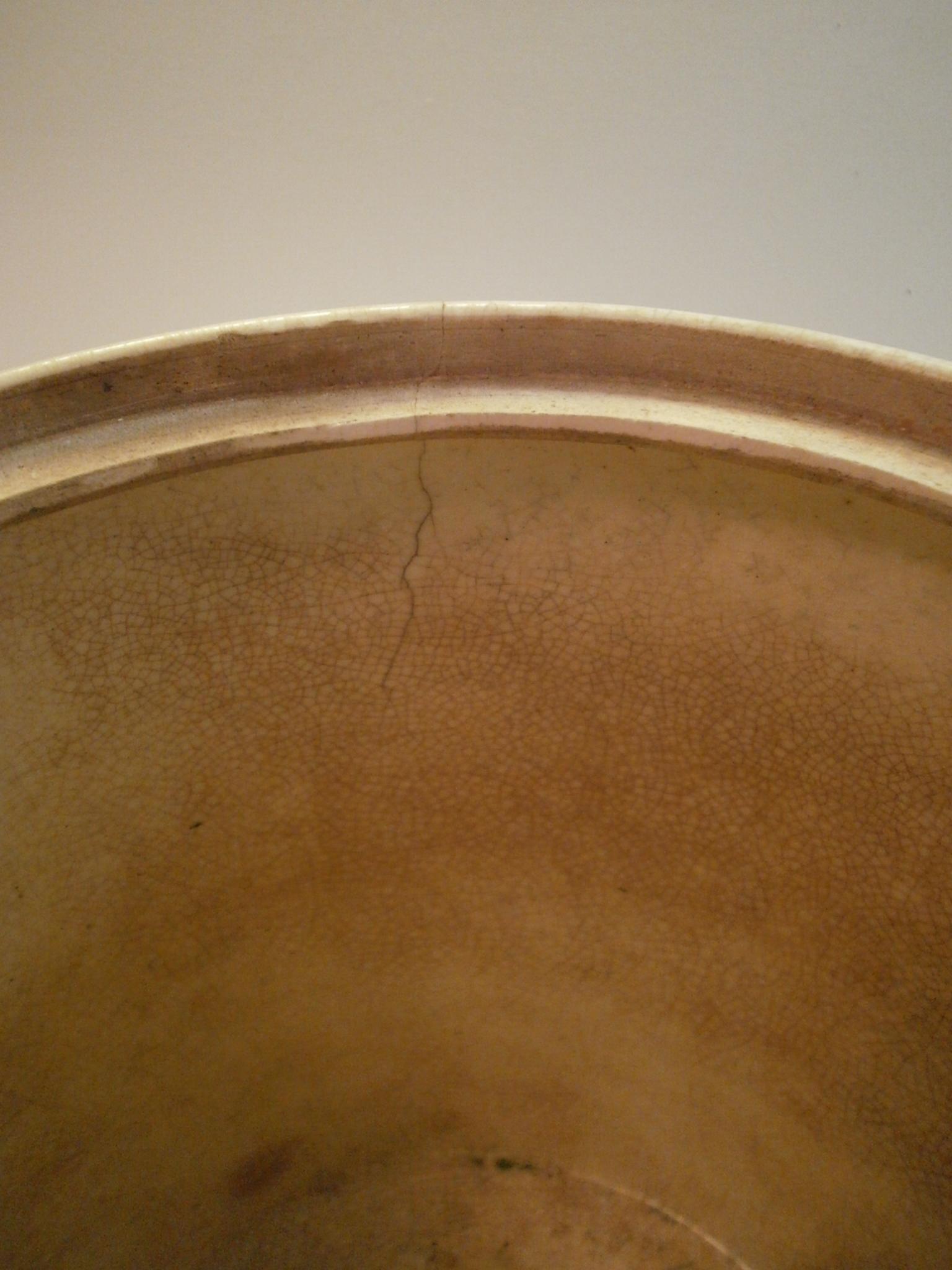 Antique Japanese Satsuma Moriage Ice Bucket Samurai War