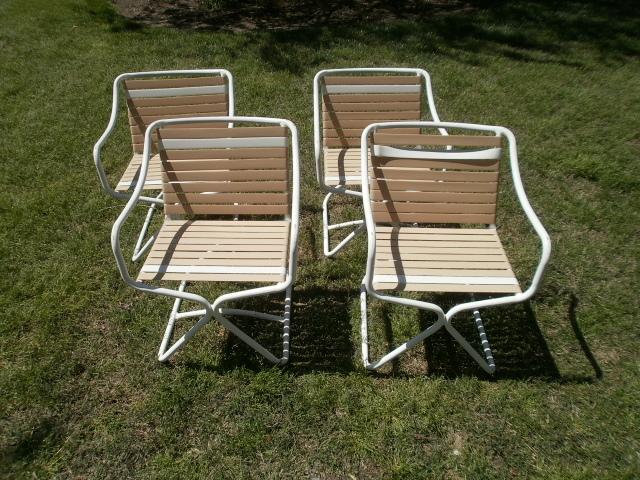 Brown Jordan Kailua 4 Patio Arm Chairs Ebay