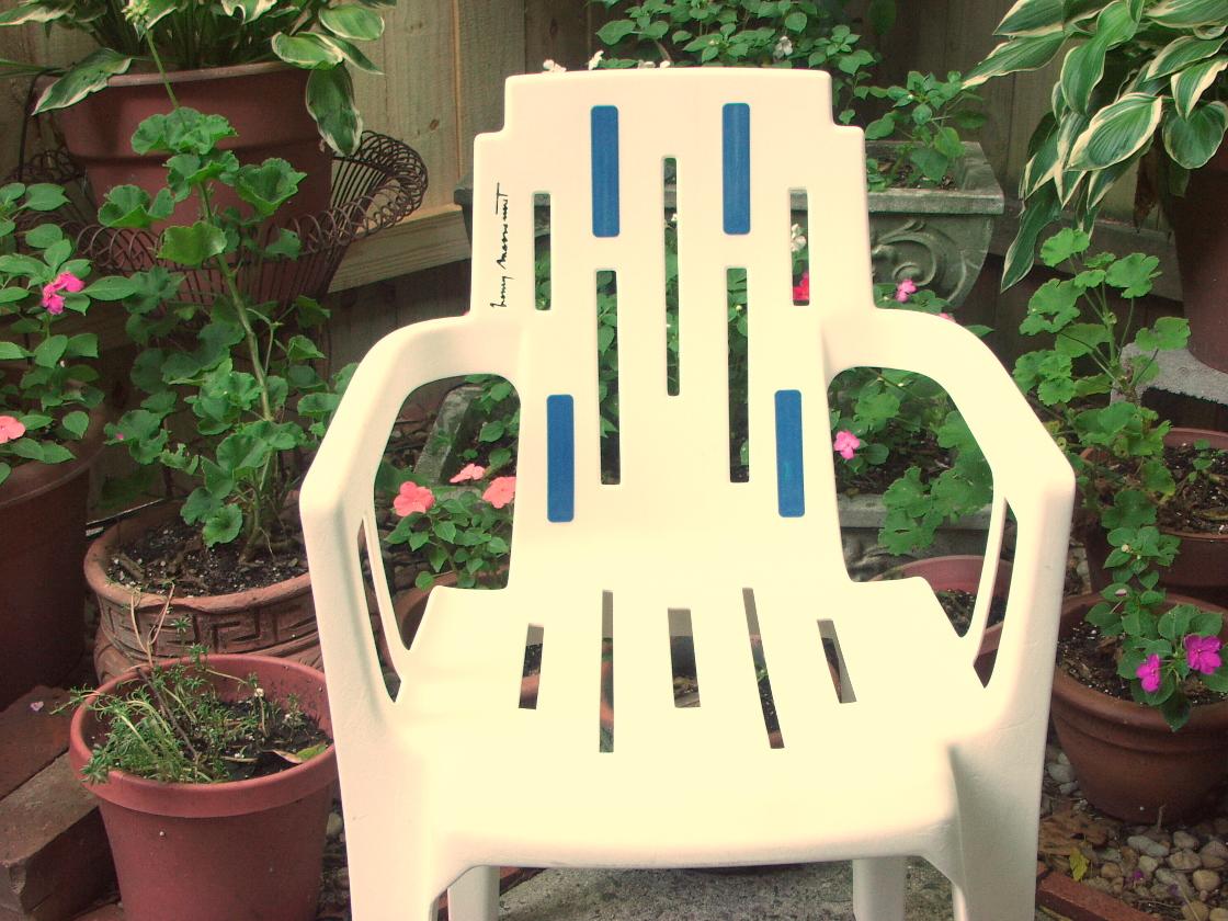 pierre paulin mambo 4 patio chairs henry massonet 1988. Black Bedroom Furniture Sets. Home Design Ideas